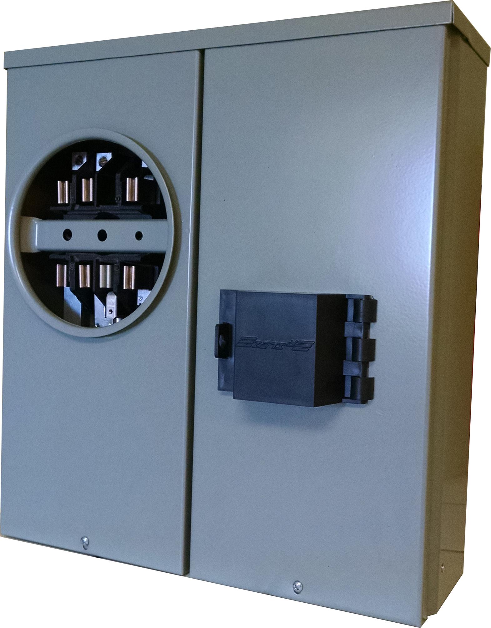 BASE INTEGRAL SUBTERRANEA PARA WATTHORIMETRO TRIFASICO 7 TERMINALES 100 AMP