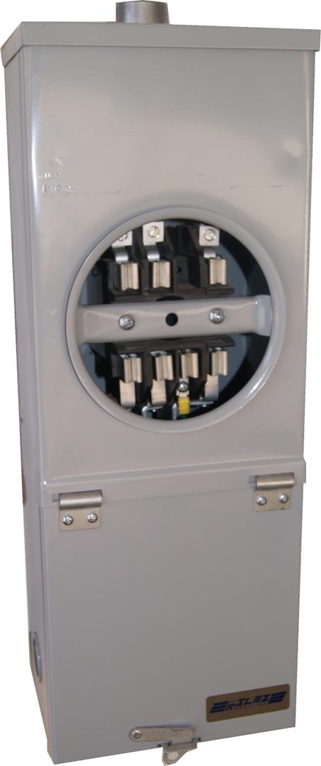 BASE INTEGRAL PARA WATTHORIMETRO TRIFASICO 7 TERMINALES 100 AMP