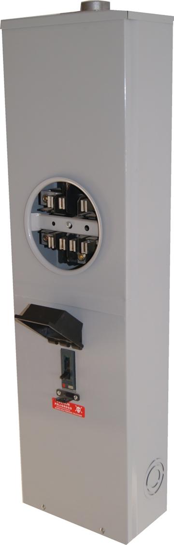 BASE INTEGRAL PARA WATTHORIMETRO TRIFASICO 7 TERMINALES 200 AMP COMETIDA AEREA